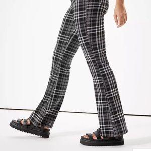 American Eagle Flannel plaid Wide Leg Pants